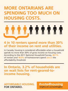 graphic showing 4 in 10 renters spend too much on housing