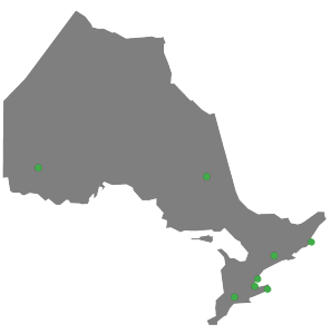 ontario map with dots