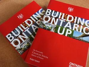 Ontario budget documents
