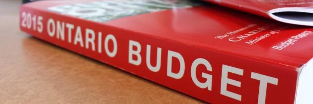 2015 Ontario budget prioritizes infrastructure