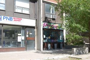 street-level shops