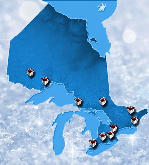 Holiday charity drives image map