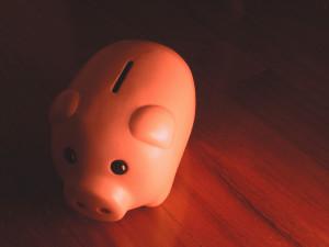 Sad-looking piggy bank