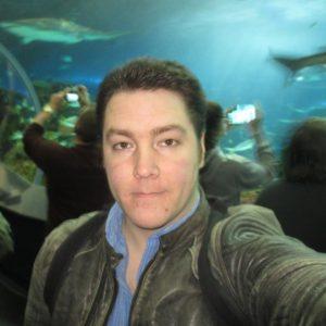 Geoffrey Goodson, selfie at aquarium