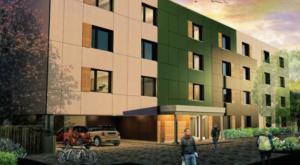 Artist's rendering of Salus's new building