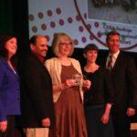 ONPHA staff accepting award