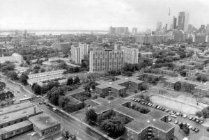 Regent Park housing development in Toronto, June 3, 1988