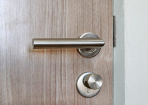 Close up door handle