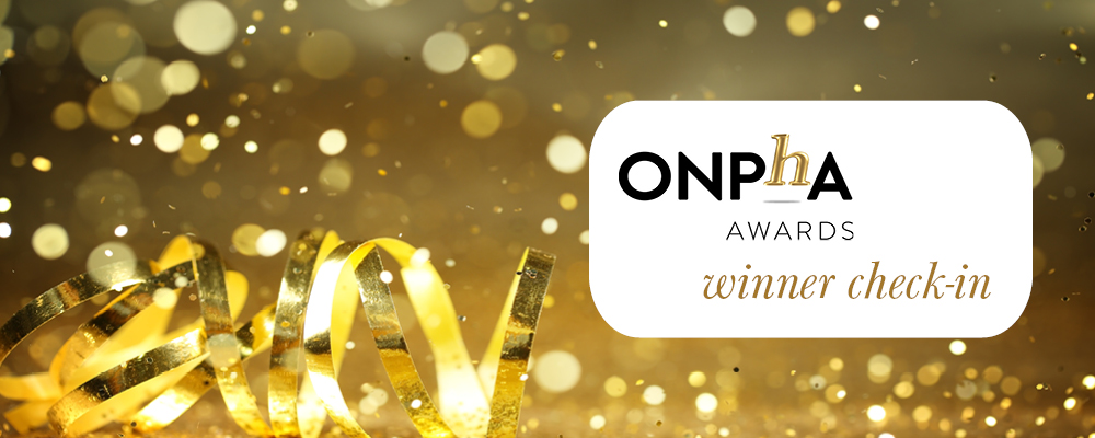 ONPHA Awards winner check-in