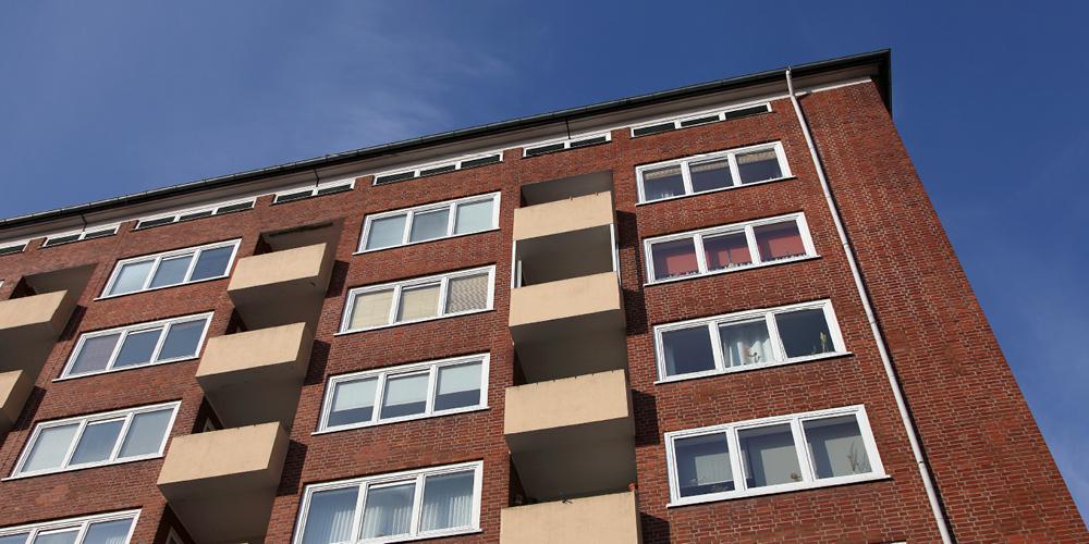 A multi-story rental building