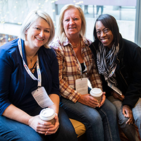 Three ONPHA members pose at the 2019 Conference in Toronto
