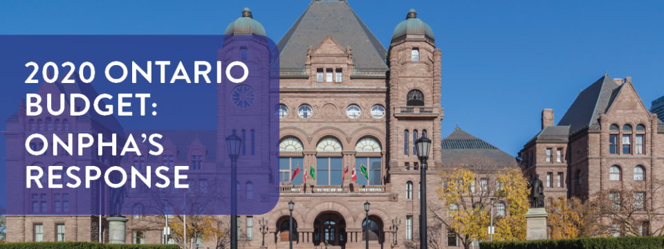 ONPHA's analysis of the 2020 Ontario Budget: Top five takeaways for community housing