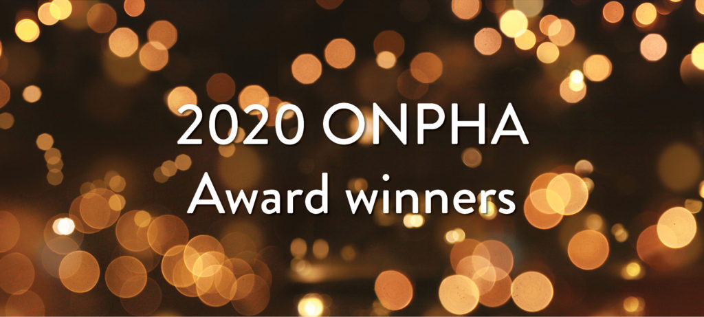 2020 ONPHA Award winners