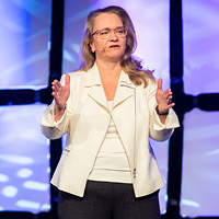 ONPHA CEO Marlene Coffey onstage at the 2019 ONPHA Conference
